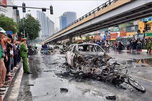 Tạm giữ hình sự nữ lái xe gây tai nạn nghiêm trọng tại Cầu Giấy