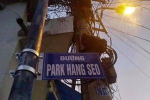 Tháo bảng tên đường 'Park Hang Seo' dân tự gắn ở TP.HCM