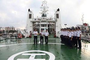 Tàu Cảnh sát biển 8002 lên đường thăm và giao lưu với Lực lượng bảo vệ bờ biển Nhật Bản
