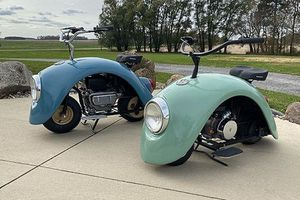 Xe máy 'con bọ' độc đáo từ ốp chắn bùn Volkswagen Beetle