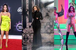 Selena Gomez tỏa sáng trên thảm đỏ và sân khấu Lễ trao giải AMA 2019