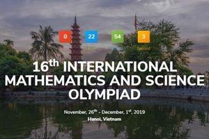 352 thí sinh đến từ 24 quốc gia và vùng lãnh thổ sẽ tham dự kì thi Olympic Toán và Khoa học quốc tế tại Hà Nội
