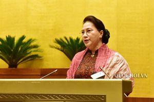 Chủ tịch Quốc hội Nguyễn Thị Kim Ngân dự Hội nghị triển khai Nghị quyết của Quốc hội về Đề án tổng thể phát triển kinh tế - xã hội vùng đồng bào dân tộc thiểu số và miền núi