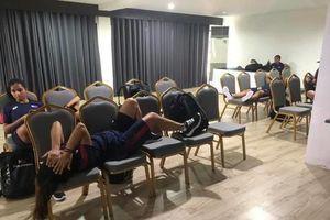 Công nhân Philippines bị thương khi dốc sức cho SEA Games