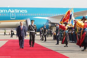 Lễ đón chính thức Thủ tướng Nguyễn Xuân Phúc tại Thủ đô Seoul, Hàn Quốc