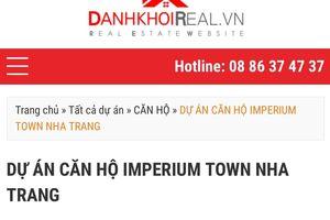 Phớt lờ 'lệnh cấm', dự án Imperium ở Khánh Hòa vẫn rao bán rầm rộ