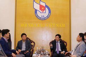 Hội Nhà báo Việt Nam tiếp đoàn đại biểu Hội Nhà báo Hàn Quốc