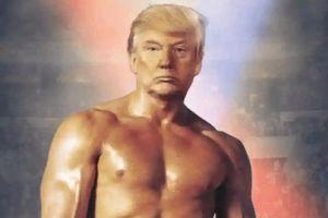 TT Trump đăng hình ghép với thân hình vạm vỡ của võ sĩ Rocky