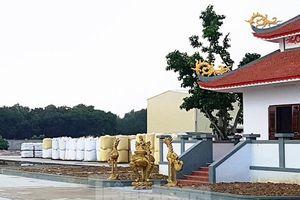Vụ xây đền thờ trong khu công nghiệp: Từng bị lập biên bản, cấm thi công