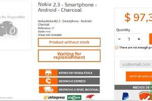 Rò rỉ giá bán Nokia 2.3 trước thềm ra mắt