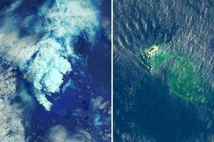 Núi lửa phun trào hình thành đảo mới ở Thái Bình Dương