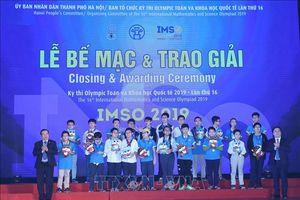IMSO 2019: Đoàn học sinh Việt Nam giành tổng cộng 46 huy chương