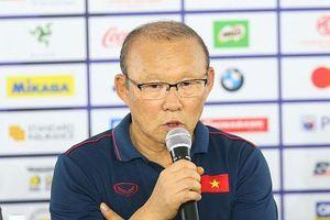 Thầy Park tự hào về tinh thần thi đấu của các học trò
