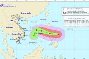Ngày 4.12, siêu bão Kammuri có khả năng vào biển Đông