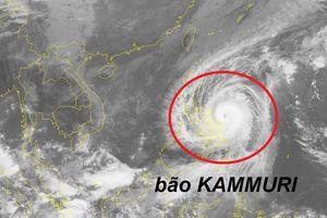 Ngày mai 3/12, bão KAMMURI đi vào biển Đông