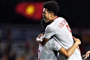 Đức Chinh đánh đầu mang về trận thắng cho U22 Việt Nam trước Singapore
