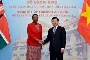 Phó Thủ tướng Phạm Bình Minh hội đàm với Bộ trưởng Ngoại giao Kenya