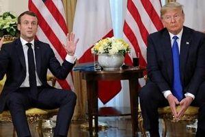 Ông Trump 'khó chịu' ra mặt với Tổng thống Pháp