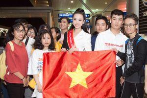 Á hậu Thúy An mang 90kg hành lý đi thi 'Hoa hậu Liên lục địa 2019'
