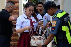 Thắt chặt an ninh trước trận đấu của U22 Việt Nam ở SEA Games