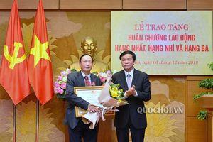 Chủ nhiệm vpqh nguyễn hạnh phúc trao tặng Huân chương Lao động cho nguyên lãnh đạo các đơn vị thuộc Quốc hội, Văn phòng Quốc hội