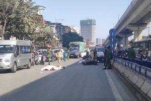 Xe tải tông vào đuôi xe máy ngay gần hầm chui Thanh Xuân, 2 người tử vong thương tâm