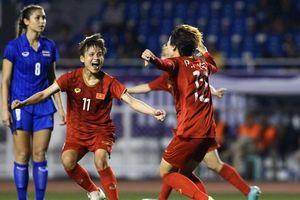 Tuyển nữ Việt Nam tiếp tục tạo kì tích, bảo vệ HCV sau trận đấu nảy lửa trước Thái Lan