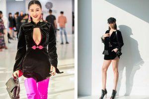 Maya khoe ngực, Hồng Quế khoe chân tại show của NTK Hà Linh Thư