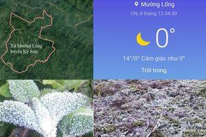 Nhiệt xuống 0 độ C, băng giá xuất hiện vào đêm và sáng sớm ở Miền Tây Nghệ An