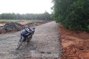 Dân tự ý làm đường nhựa trên đất nông nghiệp để phân lô bán nền ở Phan Thiết