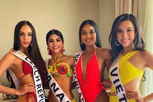 Á hậu Thúy An diện bikini lấn át dàn đối thủ để lộ mỡ thừa, hình xăm ở Miss Intercontinental