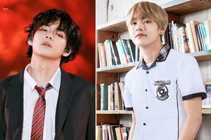 V (BTS) và những lần trông như nam thần khi diện đồng phục học sinh