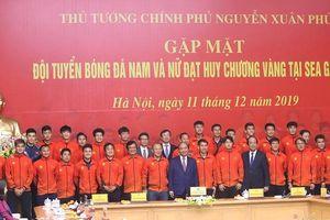 Thủ tướng gặp mặt, chiêu đãi đội tuyển bóng đá vô địch SEA Games