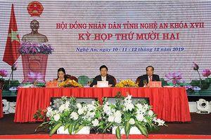 Kỳ họp thứ 12 HĐND tỉnh Nghệ An khóa XVII: Thông qua 22 nghị quyết