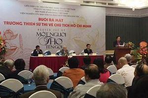 Ra mắt 'Trường thiên sử thi về Chủ tịch Hồ Chí Minh' của tác giả Nguyễn Thế Kỷ