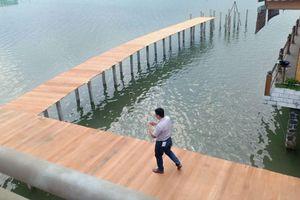 'Chuyện lạ' ở đầm Lập An (Thừa Thiên – Huế)': Công trình không phép đã bị lập biên bản vẫn tiếp tục thi công