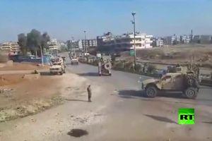 Quân đội Syria 'chơi rắn', ép đoàn xe quân sự Mỹ phải quay đầu