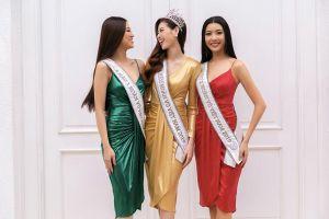 Top 3 Hoa hậu Hoàn Vũ Việt Nam mặc đồ giống cột đèn giao thông
