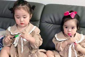 Vẻ đáng yêu của hai con gái Hoài Lâm