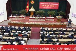 Kỳ họp thứ 12, HĐND tỉnh Hà Tĩnh khóa XVII hoàn thành các nội dung, chương trình đề ra