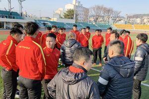 Chùm ảnh U.23 Việt Nam ngày đầu tiên tập luyện ở Hàn Quốc
