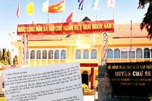 Nhiều sai phạm về tài chính ở huyện Chư Sê