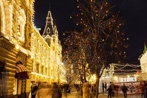 Moscow đẹp lung linh trong mùa Giáng sinh
