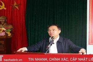 Địa phương đầu tiên của Hà Tĩnh công bố nghị quyết về sáp nhập xã