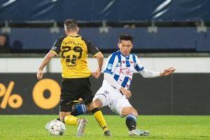 Hình ảnh Văn Hậu lần đầu tiên thi đấu cho CLB Heerenveen