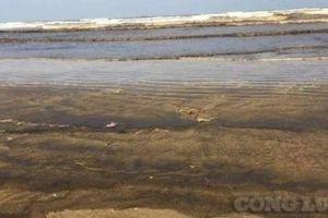 Quảng Ngãi: Nguyên nhân khiến nước biển ở Bình Sơn chuyển màu đen