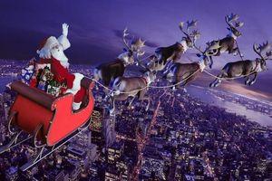 Một ngày nữa, chuyến phát quà của ông già Noel được cập nhật trên web