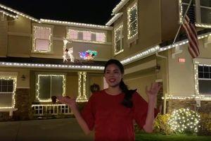 Biệt thự triệu đô lung linh đón Giáng sinh của Phạm Hương trên đất Mỹ