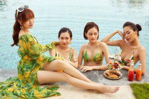 'Hội chăn chuối' của Ninh Dương Lan Ngọc diện bikini gợi cảm, chuẩn bị quậy banh trong 'Gái già lắm chiêu 3'
