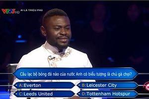 'Ai là triệu phú' khiến khán giả tranh cãi vì câu hỏi 'biểu tượng gà chọi' dành cho người chơi